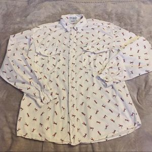 George's Marciano Guess Button Down Golf Print